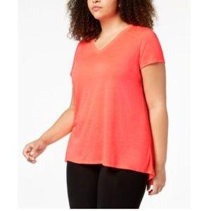 Calvin Klein Short Sleeve Dropped Back Orange